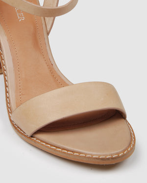 ERASMUS HIGH HEEL SANDALS NATURAL LEATHER