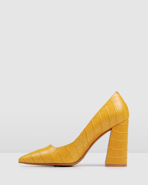 EVA HIGH HEELS YELLOW CROC