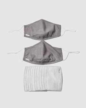 FACE MASKS TWO PACK LIGHT TAUPE