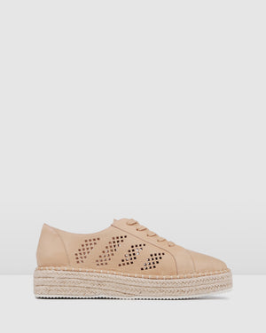 FAIRLIE CASUAL FLATS NATURAL LEATHER