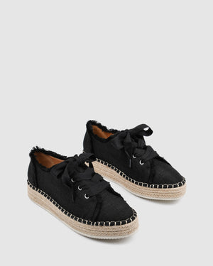 FAWN CASUAL FLATS BLACK