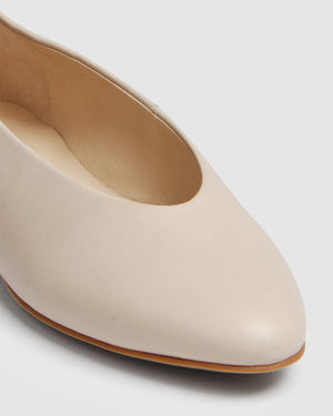 FERN BALLET FLATS BONE LEATHER