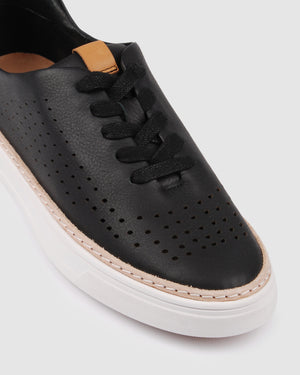 FIFI SNEAKERS BLACK LEATHER
