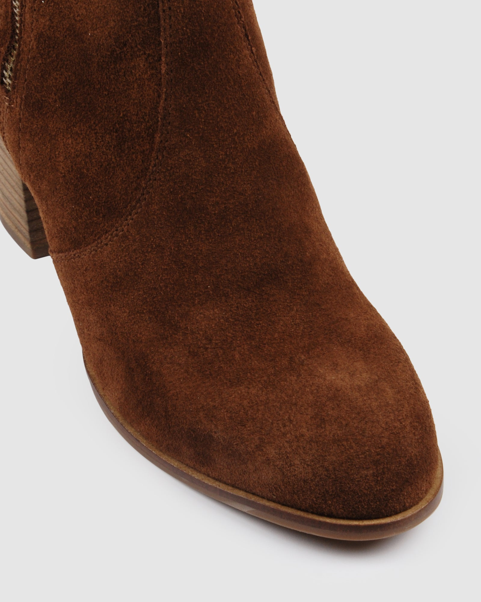 FIRENZE MID ANKLE BOOTS TAN SUEDE