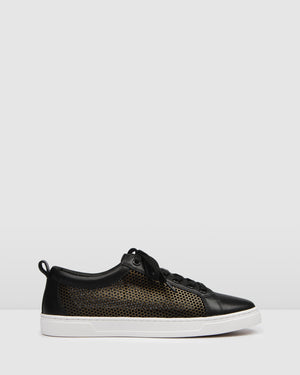 FLUME SNEAKERS BLACK LEATHER