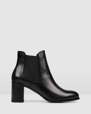 FRANCO MID ANKLE BOOTS BLACK LEATHER