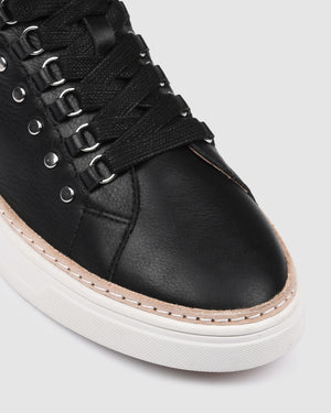 FRASER SNEAKERS BLACK LEATHER