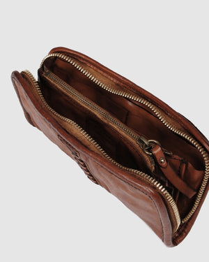 CAMPOMAGGI FULTON WALLET COGNAC LEATHER