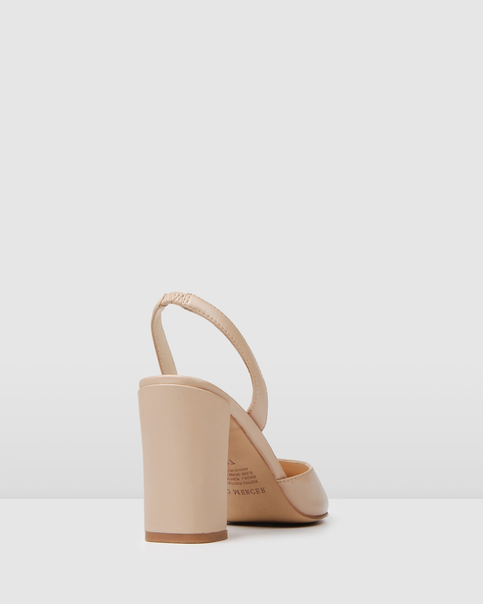 GENEVA HIGH HEELS BEIGE LEATHER