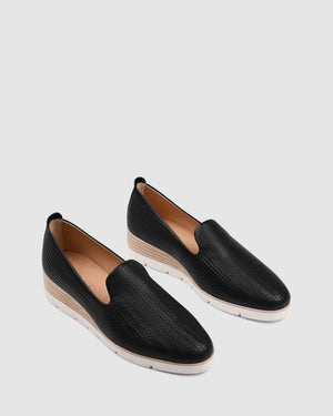GREVILLE LOAFERS BLACK LEATHER