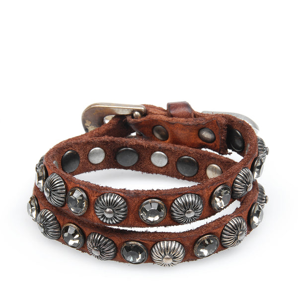 GUILIANA BRACELET COGNAC LEATHER