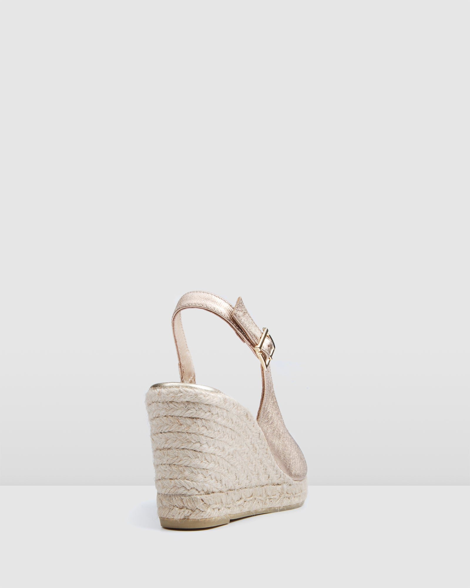 GWEN HIGH HEEL WEDGE ESPADRILLES ROSE GOLD