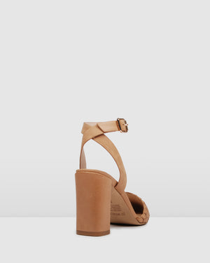 GWYNETH HIGH HEELS TAN LEATHER