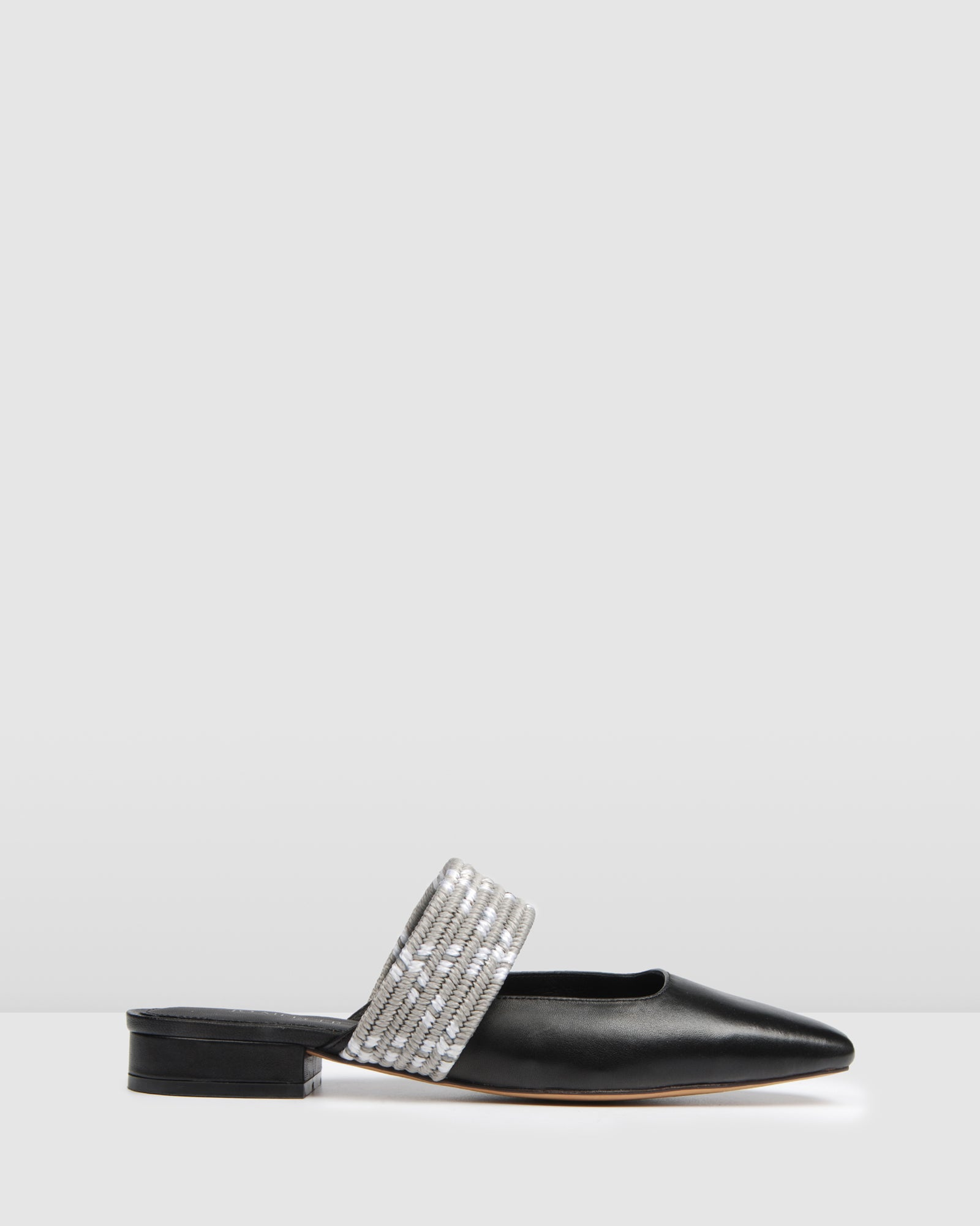 HAIL DRESS FLATS BLACK LEATHER