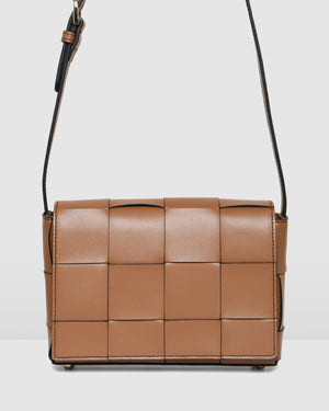 HONEY CROSS BODY BAG TAN LEATHER