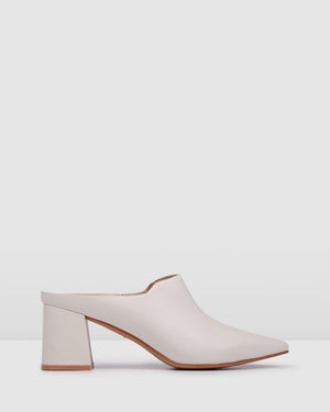 HONOR MID HEELS BONE LEATHER