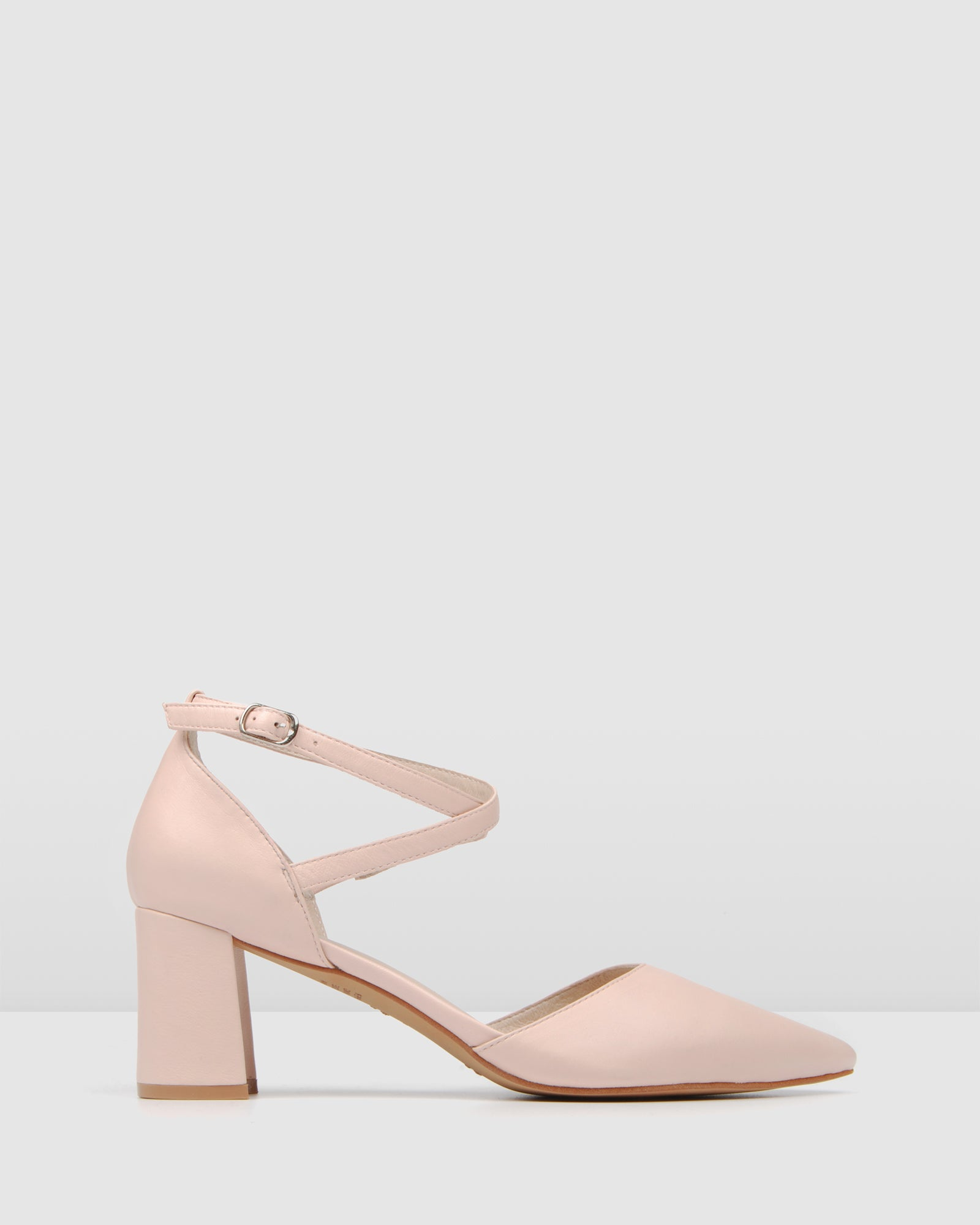 ILUKA MID HEELS LIGHT PINK LEATHER