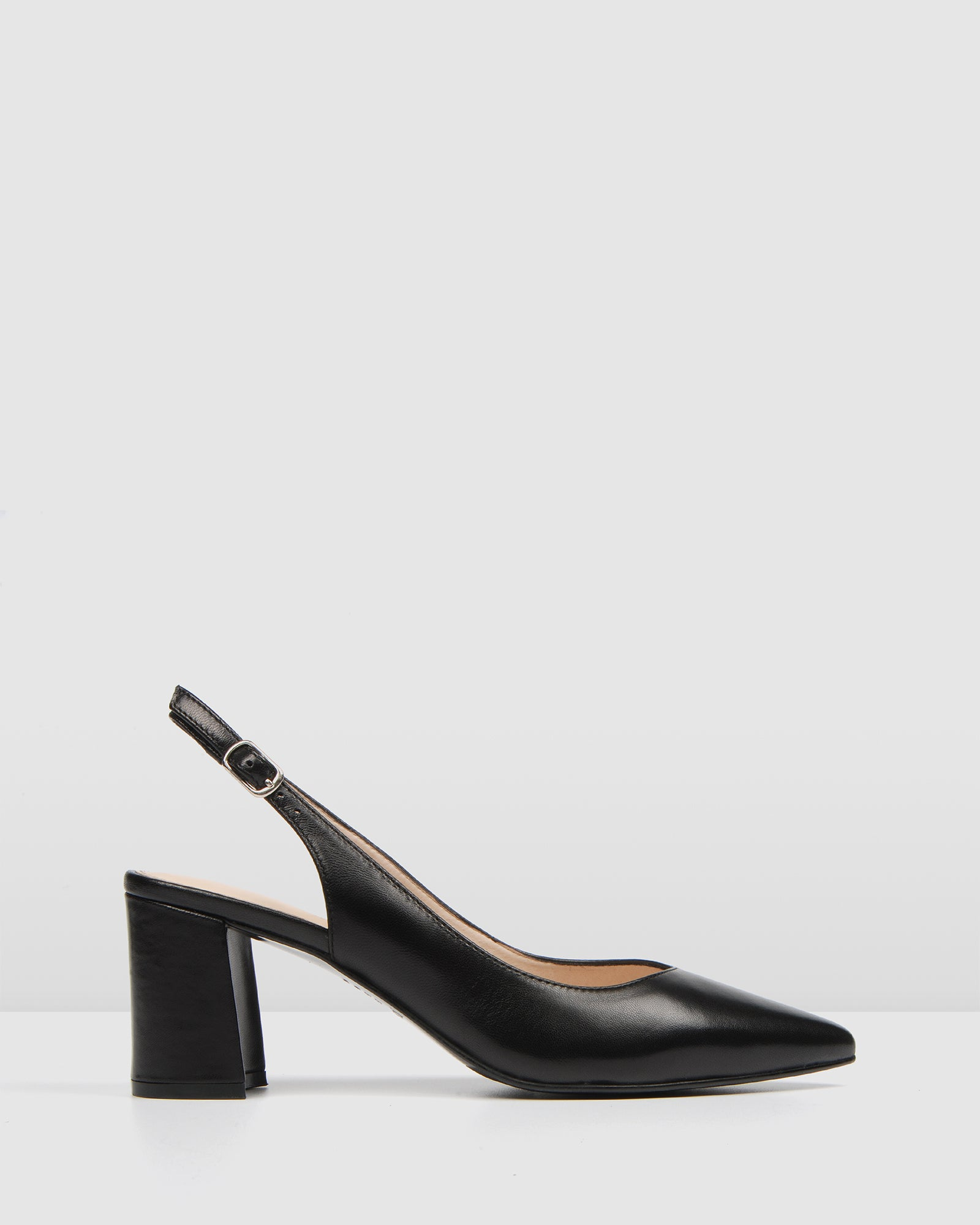 IRIS MID HEELS BLACK LEATHER
