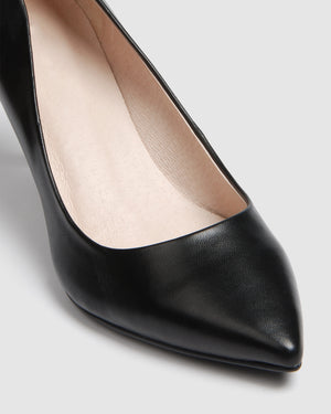 HOSTAGE MID HEELS BLACK LEATHER
