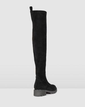 JACKIE OVER THE KNEE BOOTS BLACK