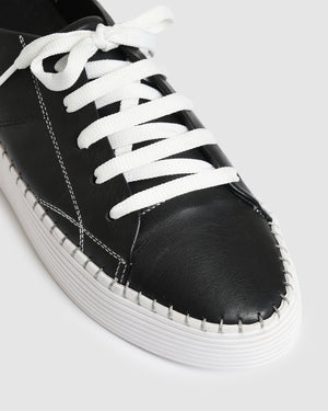 JACKSON SNEAKERS BLACK LEATHER