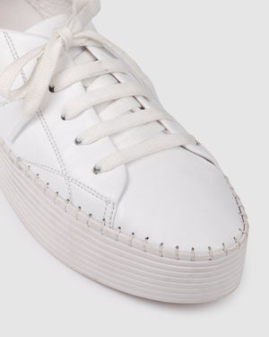 JACKSON SNEAKERS WHITE LEATHER