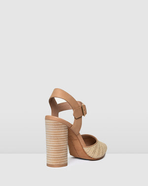 JESSA HIGH HEELS NATURAL MULTI