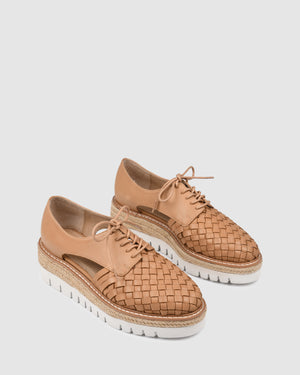 JIRO LACE UPS TAN LEATHER