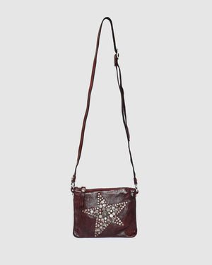 CAMPOMAGGI JOPLIN CROSSBODY BAG WINE LEATHER