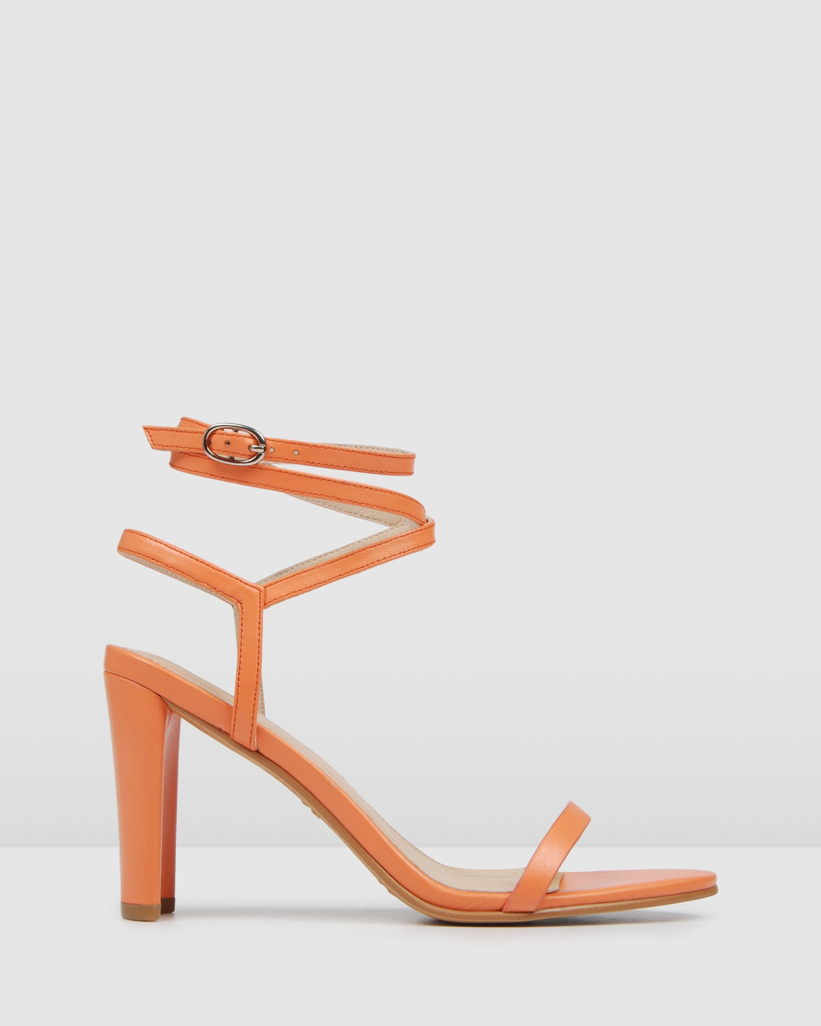 JORDAN HIGH HEEL SANDALS TANGERINE