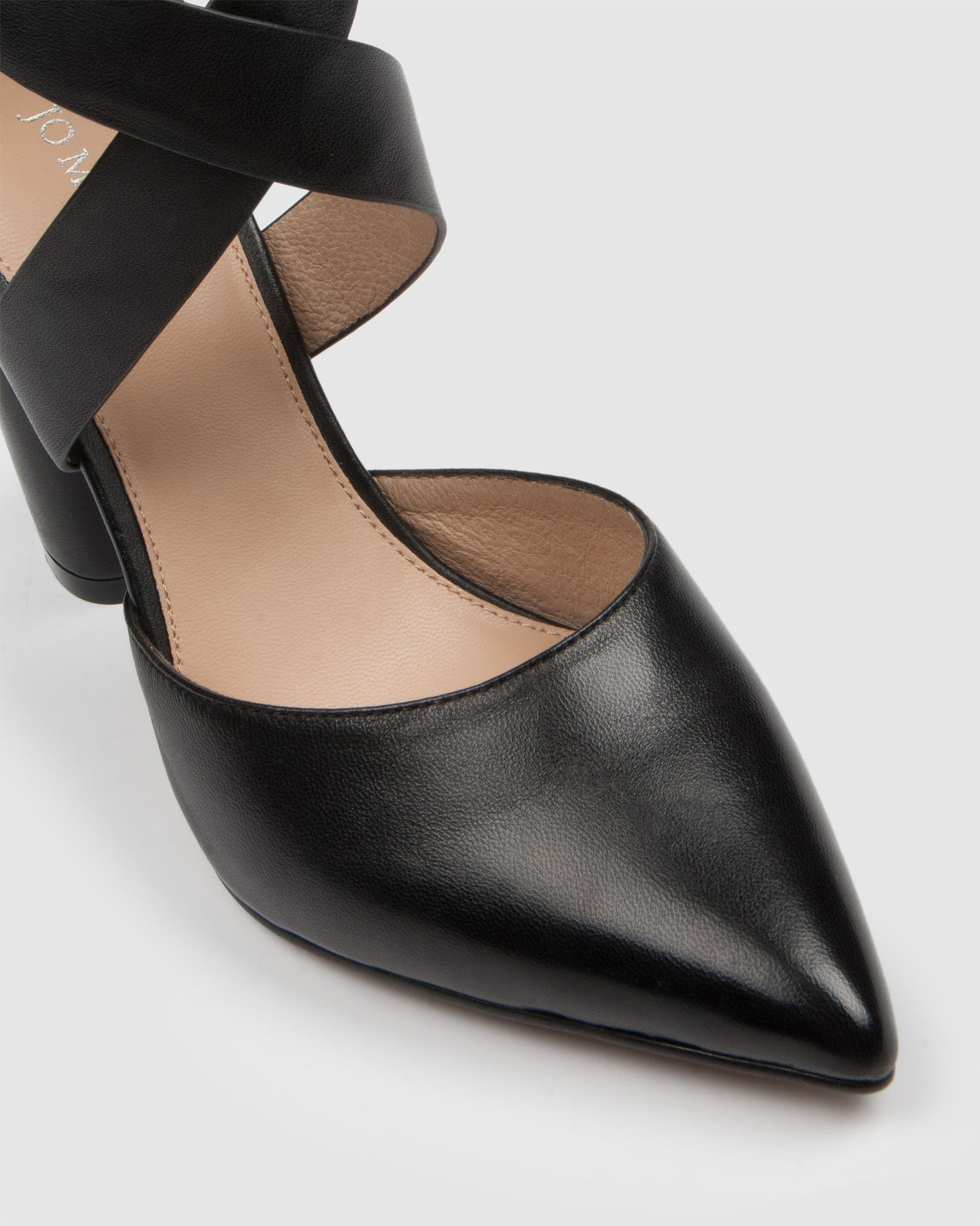 JULES HIGH HEELS BLACK LEATHER