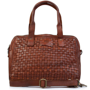 BIBA KANSAS SHOULDER BAG COGNAC LEATHER