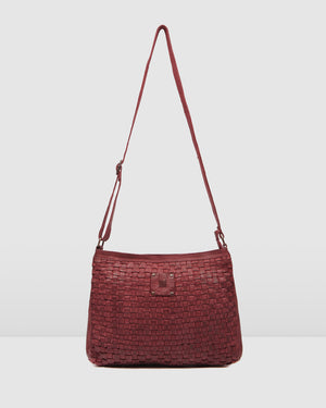 BIBA KANSAS MEDIUM CROSS BODY BAG RED LEATHER