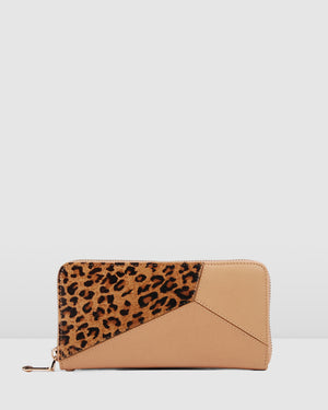 KELSEY WALLET TAN MULTI