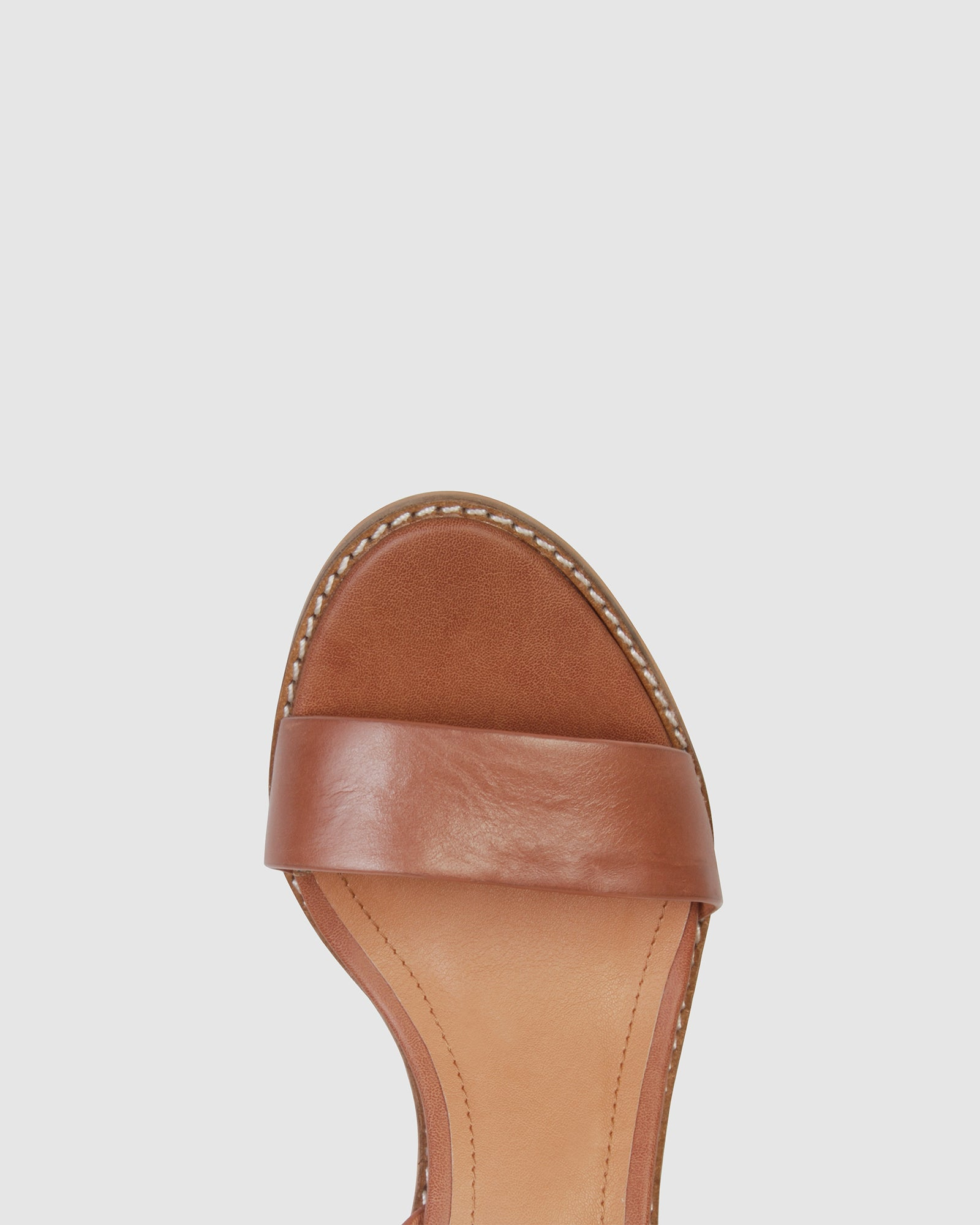 LIESEL FLAT SANDALS TAN LEATHER