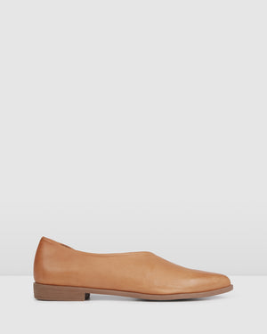 LISMORE CASUAL FLATS TAN LEATHER