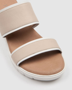 LORI LOW SLIDES BONE LEATHER