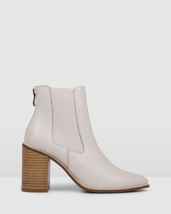 LOVER HIGH ANKLE BOOTS BONE LEATHER