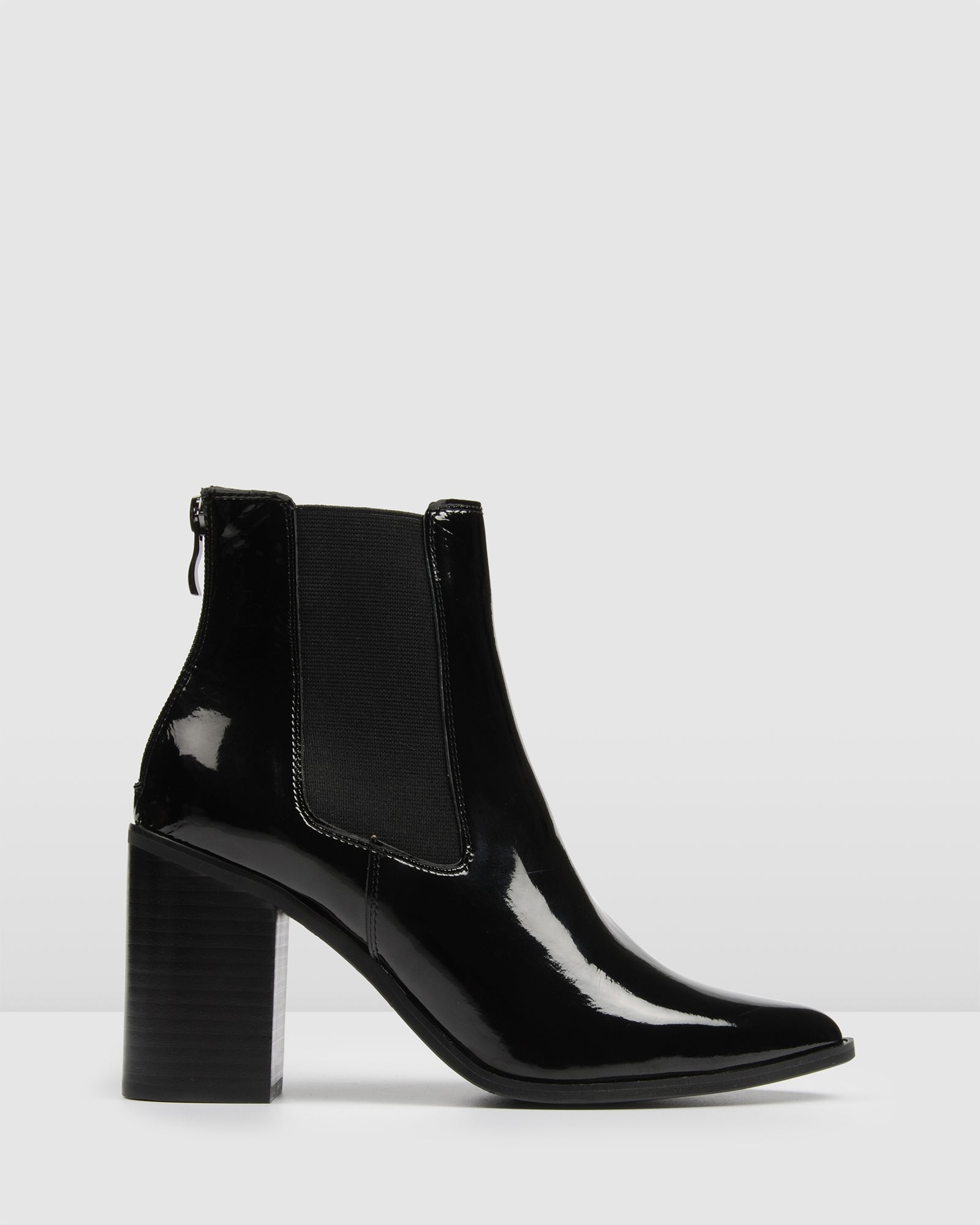 c39817a65bb LOVER HIGH ANKLE BOOTS BLACK PATENT