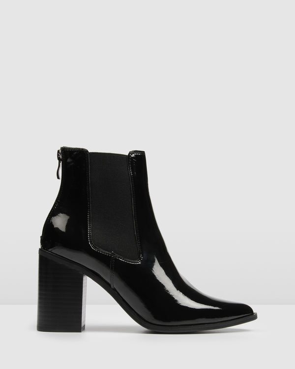 6f0db846 LOVER HIGH ANKLE BOOTS BLACK PATENT