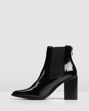 LOVER HIGH ANKLE BOOTS BLACK PATENT