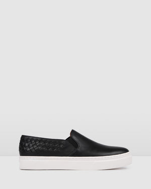 MADDIE SNEAKERS BLACK LEATHER