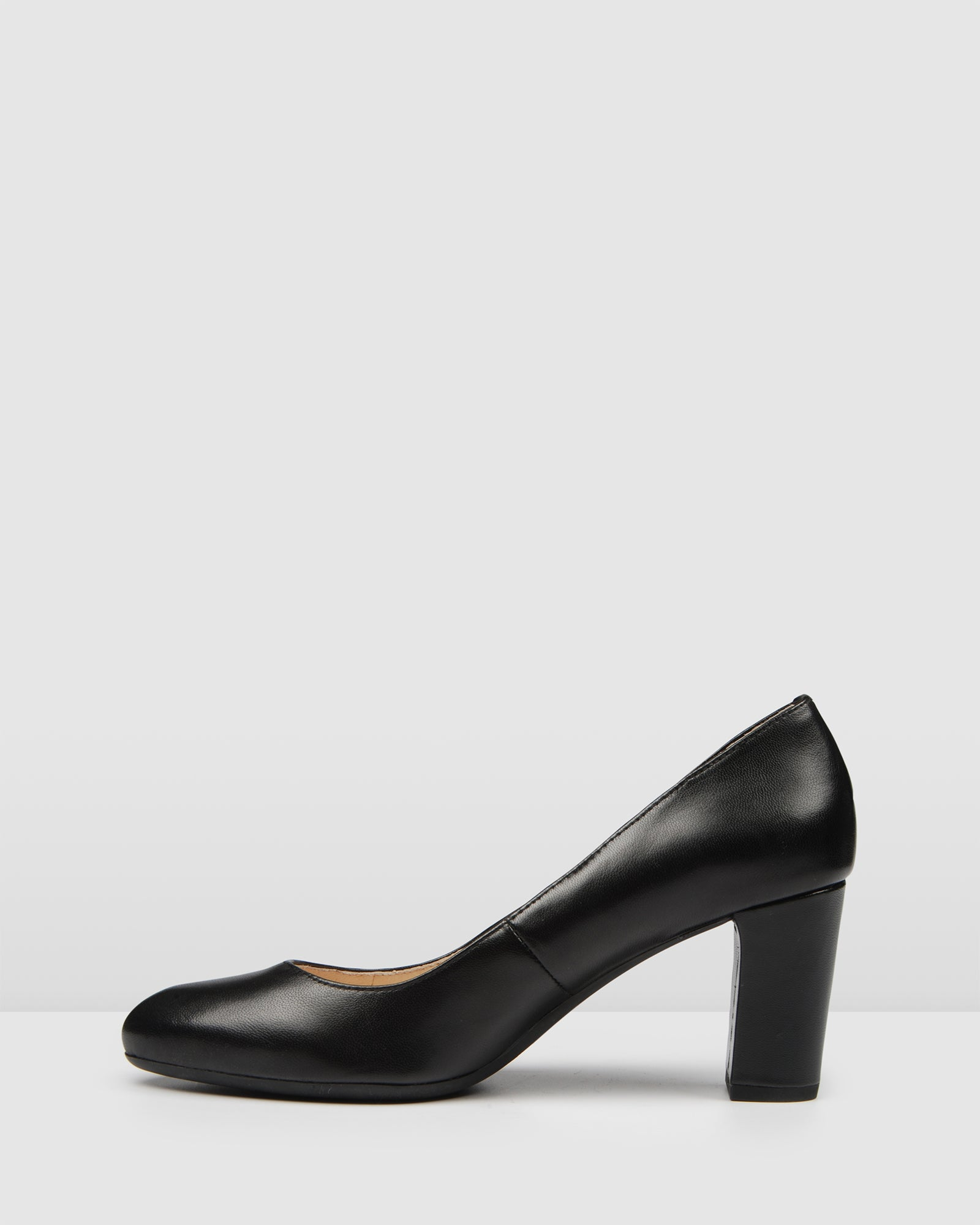 MARCY MID HEELS BLACK LEATHER