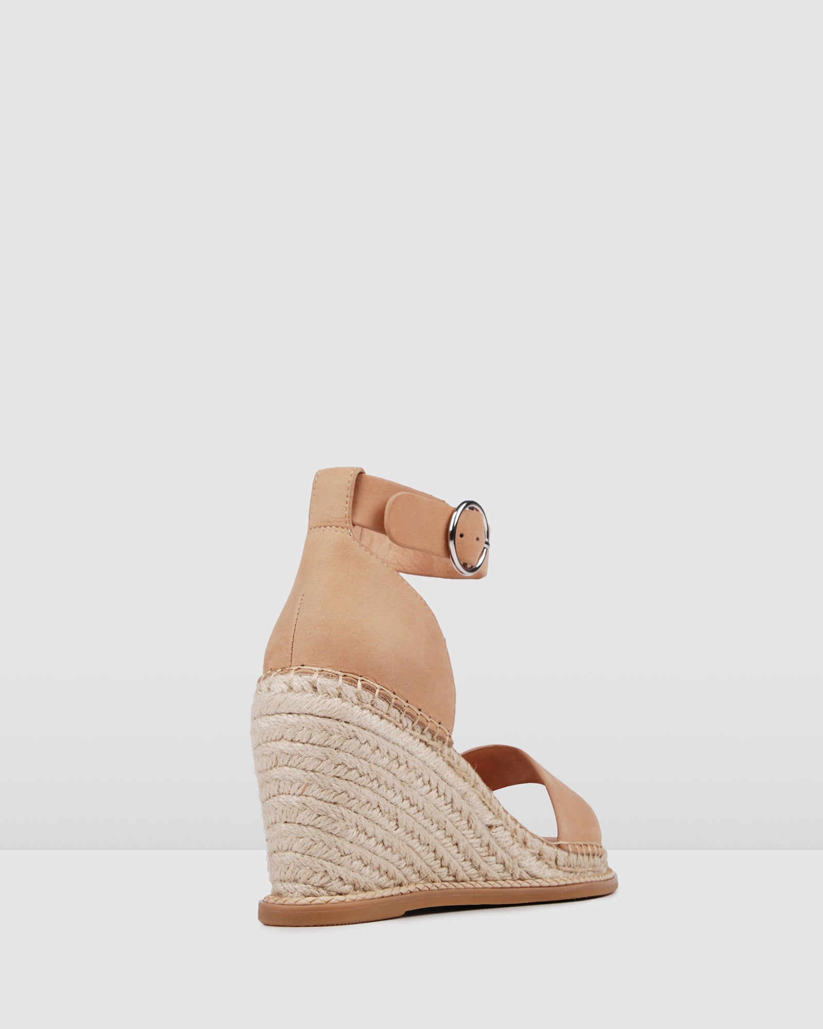 MARGOT HIGH HEEL WEDGE ESPADRILLES NATURAL LEATHER