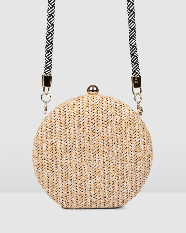 MIKA CLUTCH NATURAL RAFFIA
