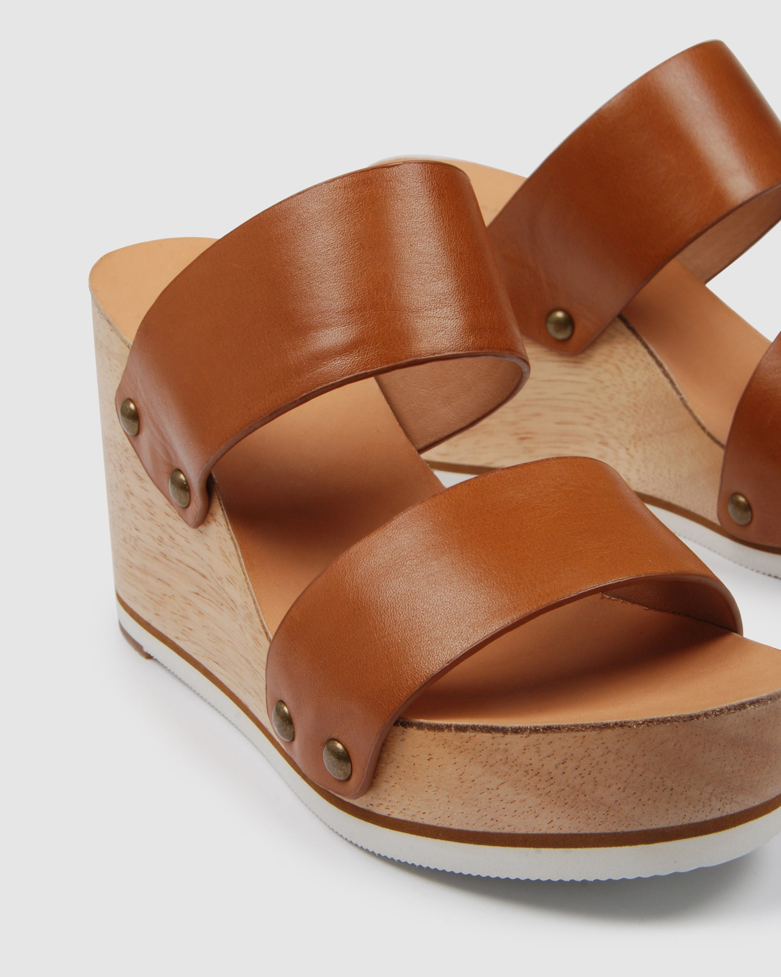 MIRA HIGH HEEL SANDALS TAN LEATHER