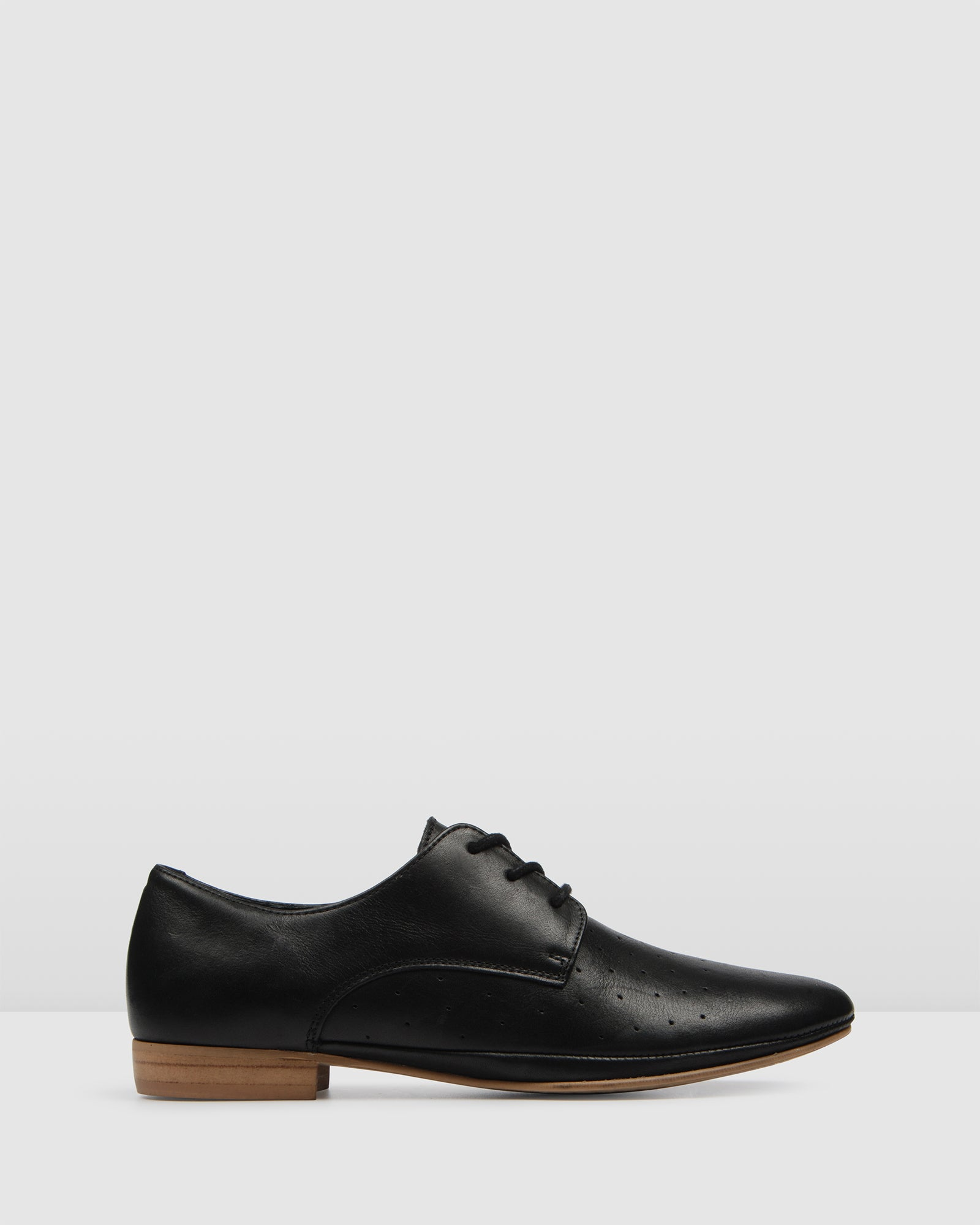 MUTINY LACE UPS BLACK LEATHER
