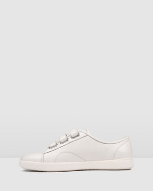 NATE SNEAKERS WHITE LEATHER