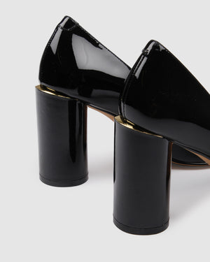 NESS HIGH HEELS BLACK PATENT