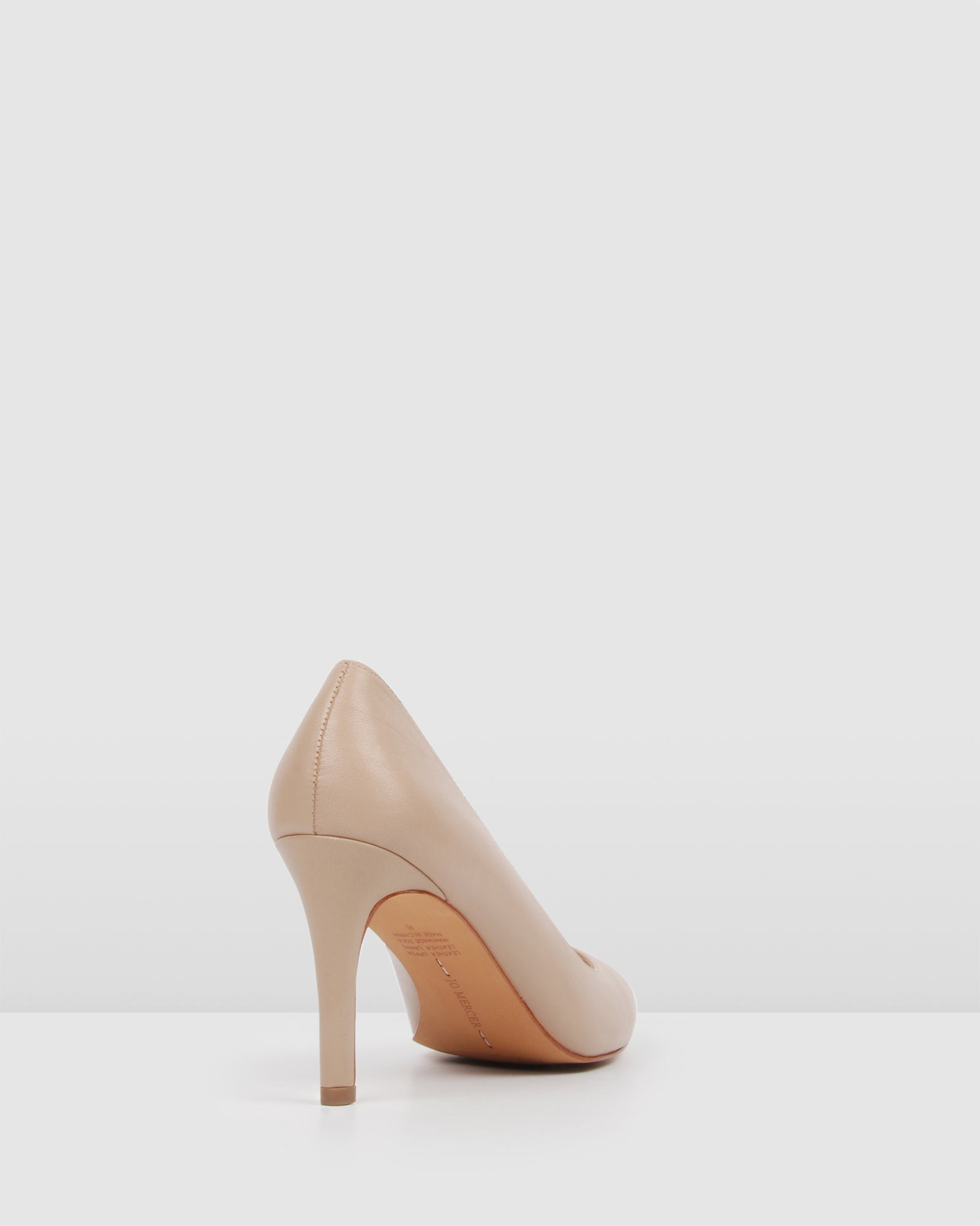 NIGELLA HIGH HEELS LIGHT BEIGE LEATHER